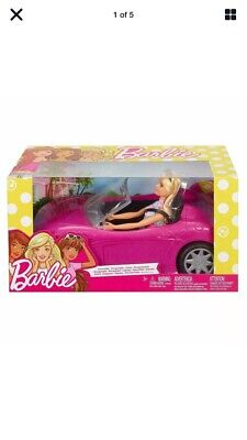 Mattel Barbie Convertible Car and Doll Playset