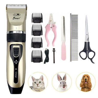 Pet Grooming Clipper Kits Low noise Dog and Cat Rechargeable Cordless Electric