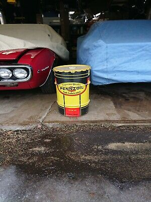 Vintage Pennzoil 16 Gallon Drum With Lid