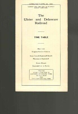 Ulster & Delaware Railroad  New York  Ny  1932