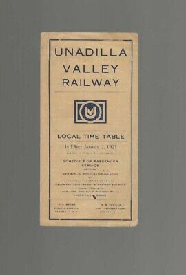 Unadilla Valley Railway   New York  Ny   1921`