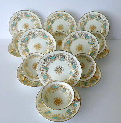 "Set 6 Trios Royal Cauldon ""GAINSBOROUGH"" Tea Cups & Saucers Plates"