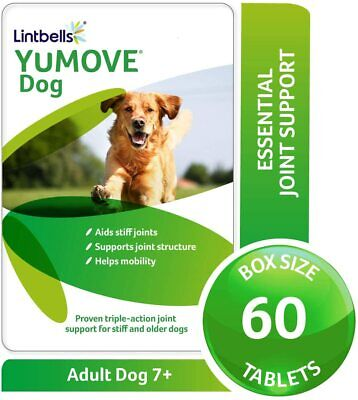 Lintbells | YuMOVE Dog | Essential Hip for Stiff Dogs Aged 7 to 8 | 60 Tablets
