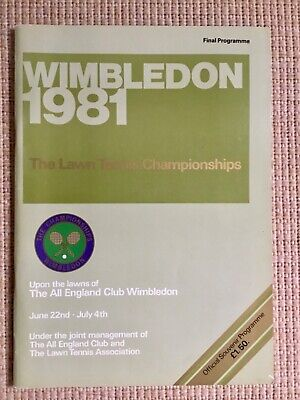 RARE WIMBLEDON FINAL TENNIS PROGRAMME With Printed Results 1981 McEnroe Borg