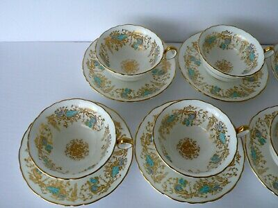 "Royal Cauldon ""GAINSBOROUGH"" Cup & Saucer Dessert Plate Trio"