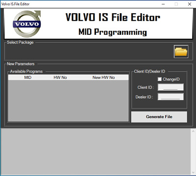 Volvo IS File Editor 1.00 encrypt/decrypt/edit intermediate storage files