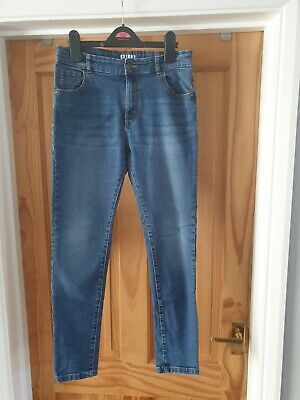 George (Asda) Boy's Blue Skinny Jeans, Aged 11 - 12 Years (Barely Used)