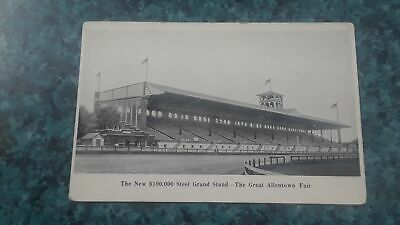 1908 Postcard The New $100,000 Steel Grandstand At The Great Allentown Fair Pa