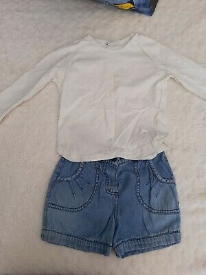 Girls Outfit 3- 4 Years Next Top George Shorts