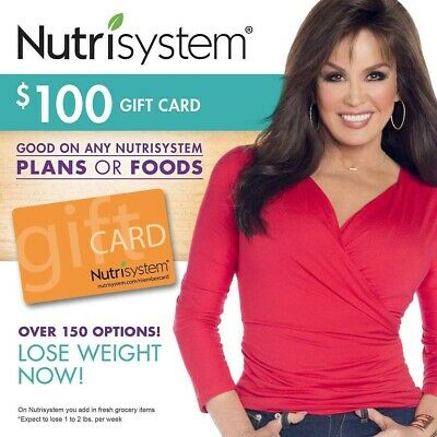 $300 Nutrisystem 3 x $100 Gift Cards No Expiration - Free Shipping