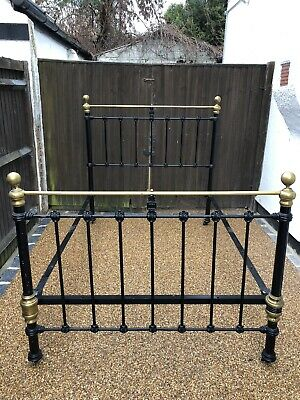 Antique Victorian Cast Iron Bed Frame (Genuine)