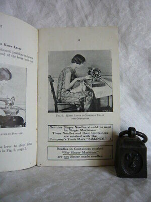 Singer Sewing Machine Instructions Portable Electric 128-13 dated 1935