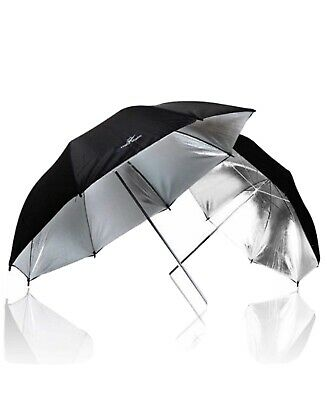 LimoStudio 2 x 33 Double Layer Black/Silver Photo Studio Reflector Umbrella