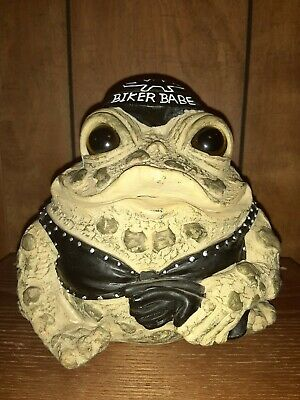 """Toad Hollow Born to Ride Biker Babe 6-1/2"""" by 8"""" Motorcycle Figurine"""