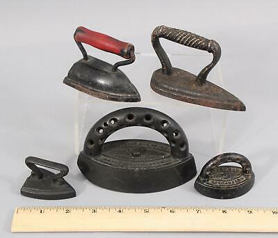 19thC Antique Miniature Sad iron, Flat Irons, Enterprise,  NO RESERVE!