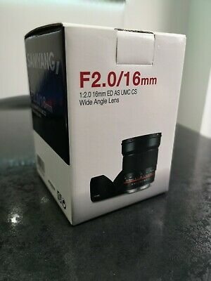 Samyang 16mm F2.0 -  Sony E (APSC mount ) Almost unused condition.
