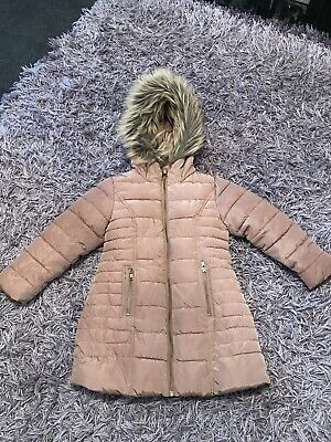 Next Girls Winter Coat Age 5 Years Excellent Condition