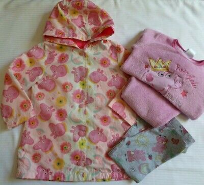 Peppa Pig Bundle Age 2-3 Years Rain Coat Pyjamas & Leggings