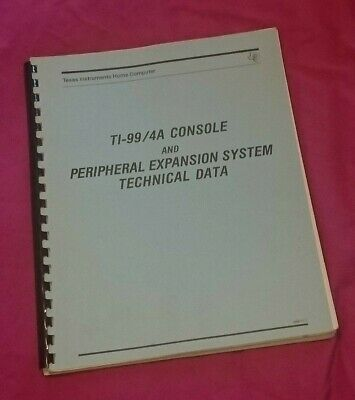 Ti99 4a Peripheral Expansion System Technical Data Manual