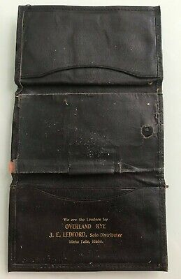 OVERLAND RYE, J.E. LEDFORD, Sole Distributor IDAHO FALLS, Idaho Leather BILLFOLD