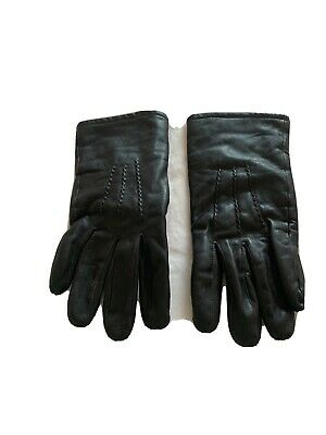 Ladies Black Wrist Length Calf Skin Thinsulate Lined Gloves. Sixe XL OR 8.