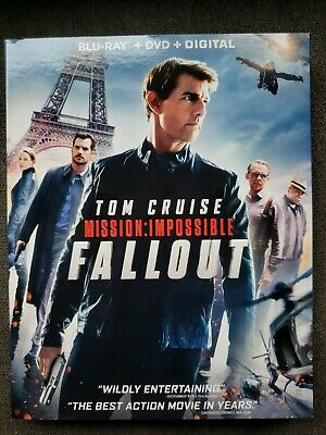 Mission: Impossible Fallout w/Slipcover (Blu-ray, DVD) Tom Cruise Henry Cavill