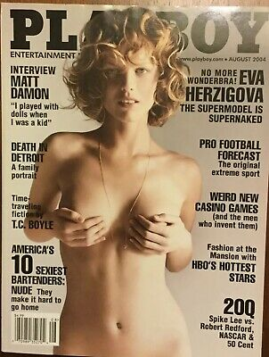 2004 August PLAYBOY Magazine EVA HERZIGOVA Great Cover & Ads (BX7)