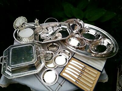 Vintage Antique Silver Plated Tureen Tray Sheffield Atkin Brothers Job Lot