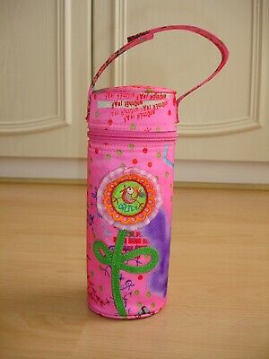 Rare Oilily Pink Flower Insulated Bottle Holder - One Size
