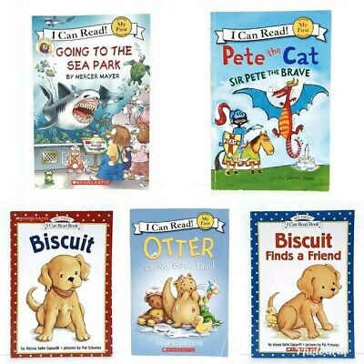 5 My First I Can Read Early Readers Books (Biscuit, Pete, Otter, Little Critter.
