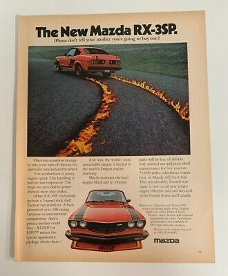 1977 Mazda RX-3SP RX-3 SP Print Ad Advertising Car Auto Coupe