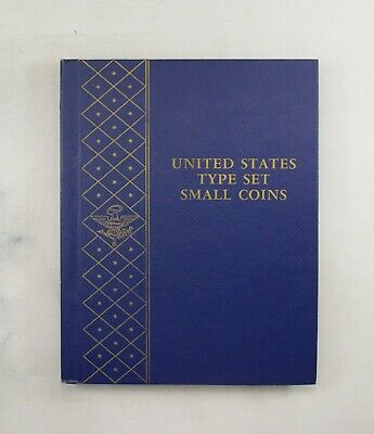 Used Whitman U.S. Type Set Small Coins Empty Coin Album Book - 11 Oz. *630