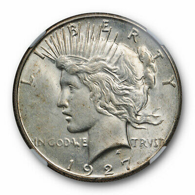 1927 S $1 Peace Dollar NGC MS 61 Uncirculated Mint State Better Date Original
