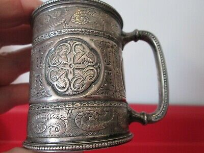 AESTHETIC Period - ENGLISH  DATED 1882 STERLING  SILVER - PRESENTATION CUP  #6