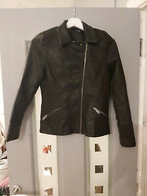 Girls leather look jacket aged 13/14