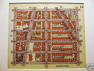 Brooklyn Map 1929 BORO PARK 47-52nd ST. 10-12th AVE. Matted