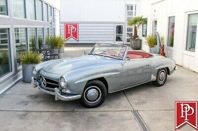 1958 Mercedes-Benz 190-Series Roadster 1958 Mercedes-Benz 190SL Roadster, Silver-Grey on Rose