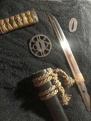 Antique Japanese Samurai Sword Tanto Dagger Unusual Rare