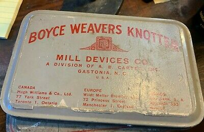 Boyce Weavers Knotter Knitter Thread Tool With Strap & Tin Box W Lid