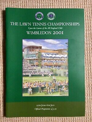 RARE WIMBLEDON FINAL TENNIS PROGRAMME With Printed Results 2001