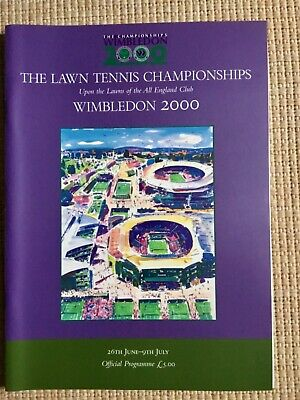 RARE WIMBLEDON FINAL TENNIS PROGRAMME With Printed Results 2000