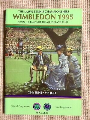 RARE WIMBLEDON FINAL TENNIS PROGRAMME With Printed Results 1995