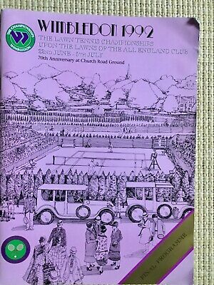 RARE WIMBLEDON FINAL TENNIS PROGRAMME With Printed Results 1992
