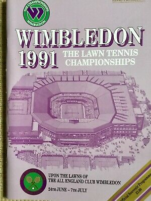 RARE WIMBLEDON FINAL TENNIS PROGRAMME With Printed Results 1991
