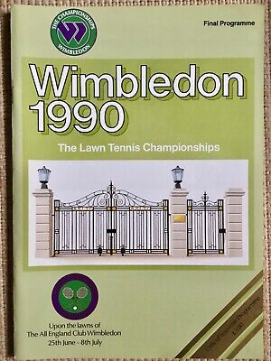 RARE WIMBLEDON FINAL TENNIS PROGRAMME With Printed Results 1990