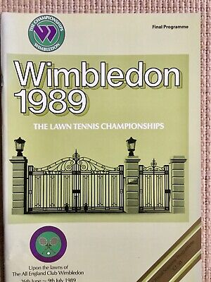 RARE WIMBLEDON FINAL TENNIS PROGRAMME With Printed Results 1989