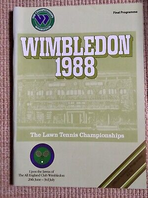 RARE WIMBLEDON FINAL TENNIS PROGRAMME With Printed Results 1988