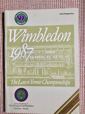 RARE WIMBLEDON FINAL TENNIS PROGRAMME With Printed Results 1987