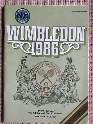 RARE WIMBLEDON FINAL TENNIS PROGRAMME With Printed Results 1986