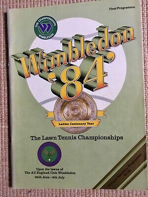 RARE WIMBLEDON FINAL TENNIS PROGRAMME With Printed Results 1984